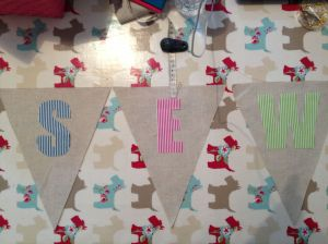 letters on fabric ready to sew