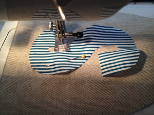 Sewing the S on