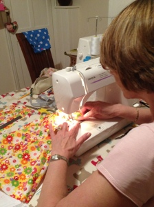 Barbara sewing