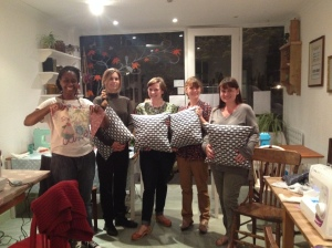 Fabulous cushions and bunting!