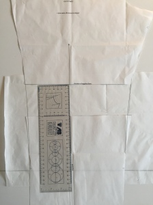 Lengthening a trouser pattern
