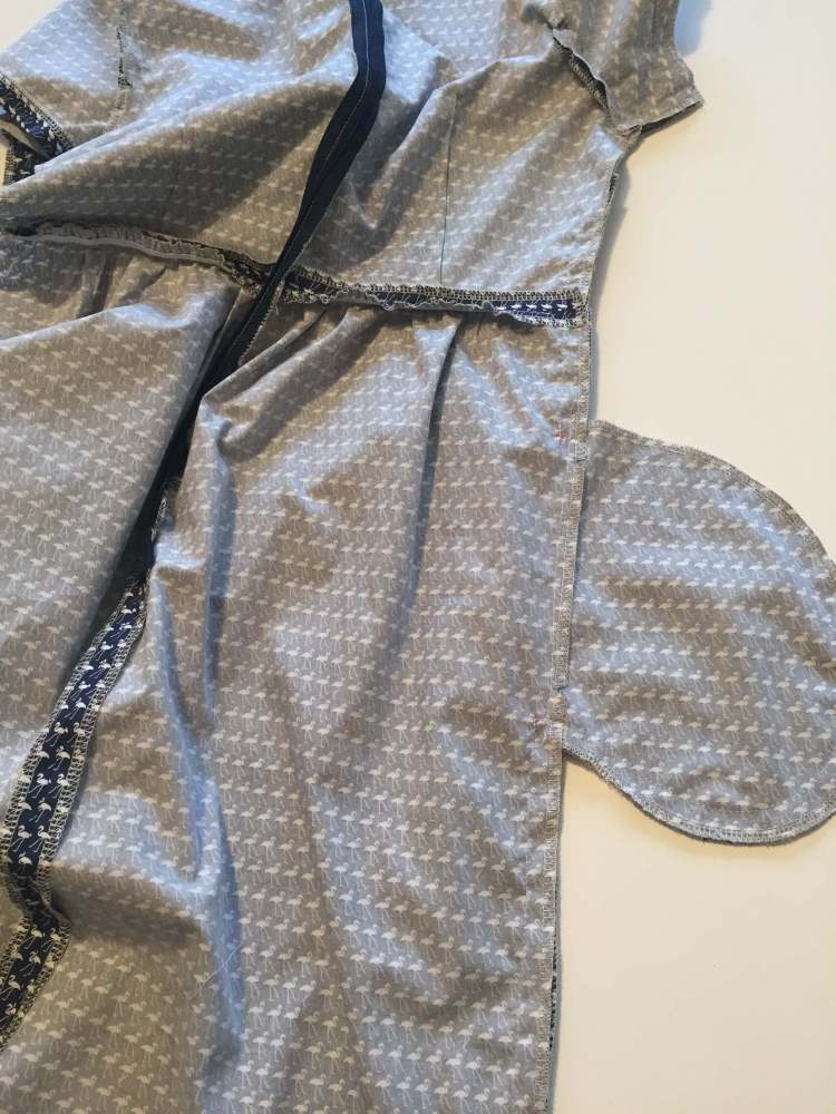Sewing the side seams of the Day Dress
