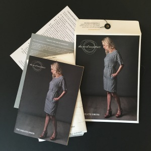 Tracing a sewing pattern