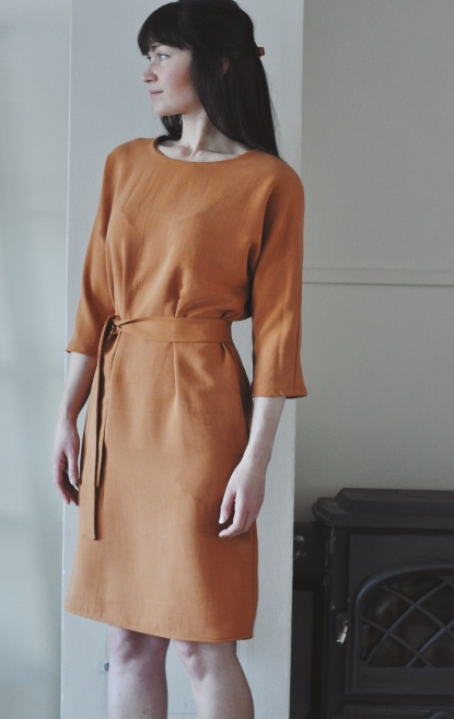 The Sheath Dress sewing pattern made by Miriam